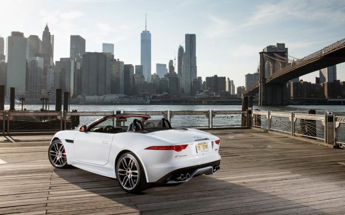 jaguar f type convertible city