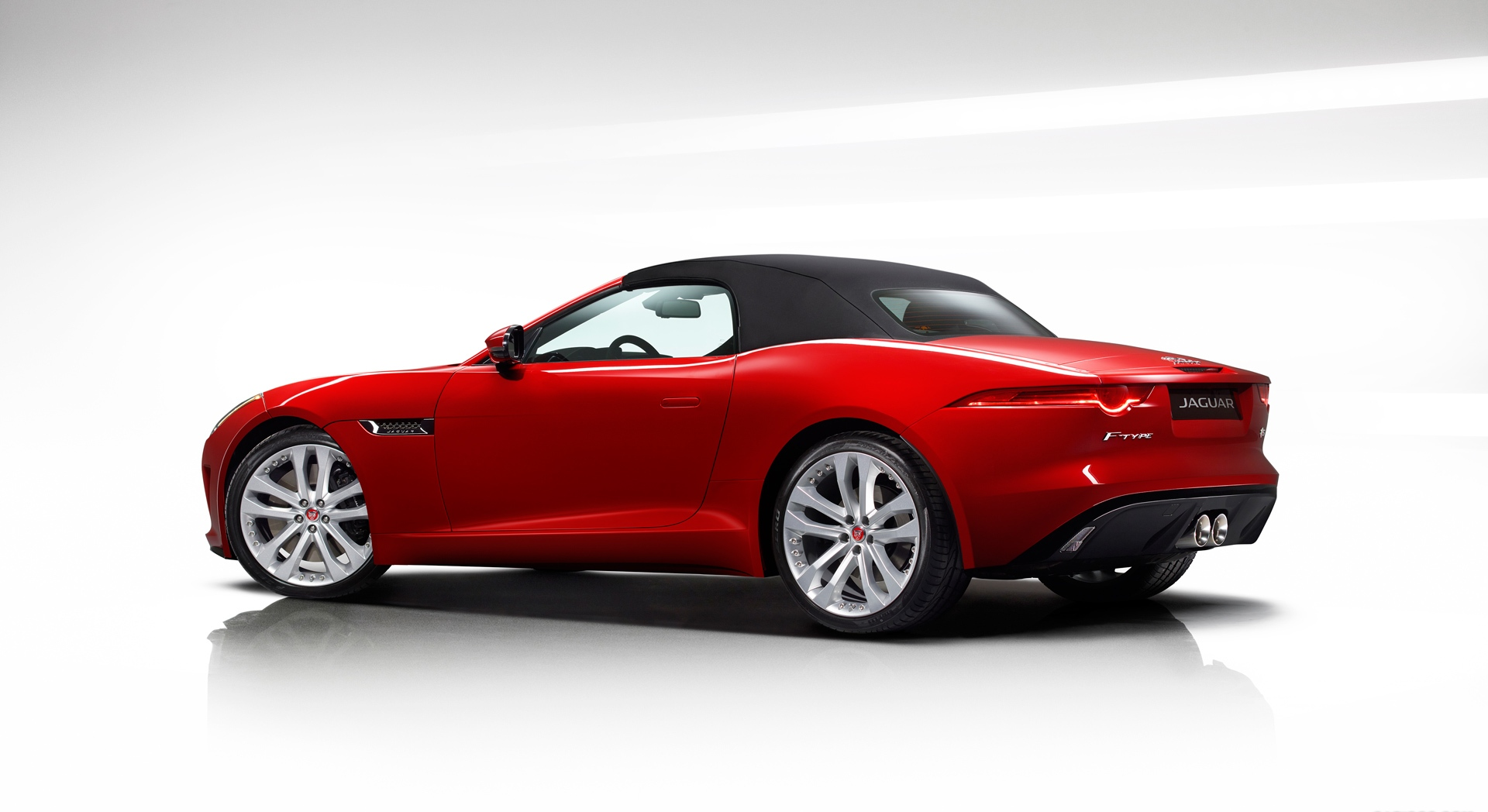 jaguar f type convertible red