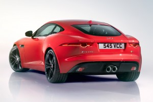 jaguar f type coupe rear
