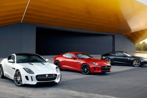 jaguar f type coupe red white black
