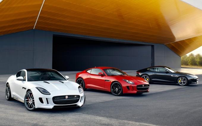 jaguar f type coupe red white black