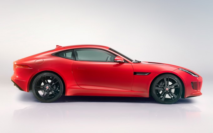 jaguar f type coupe sides red