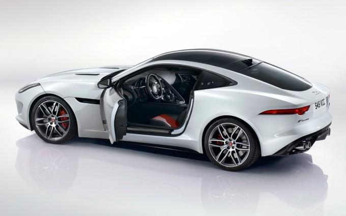 jaguar f type r coupe white images