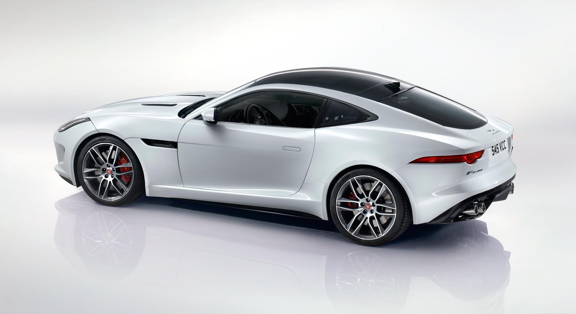 jaguar f type r coupe white sides hd desktop wallpapers