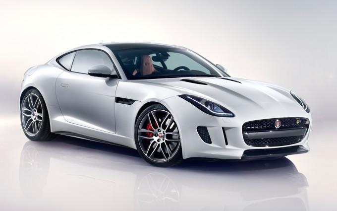 jaguar f type r coupe white sides