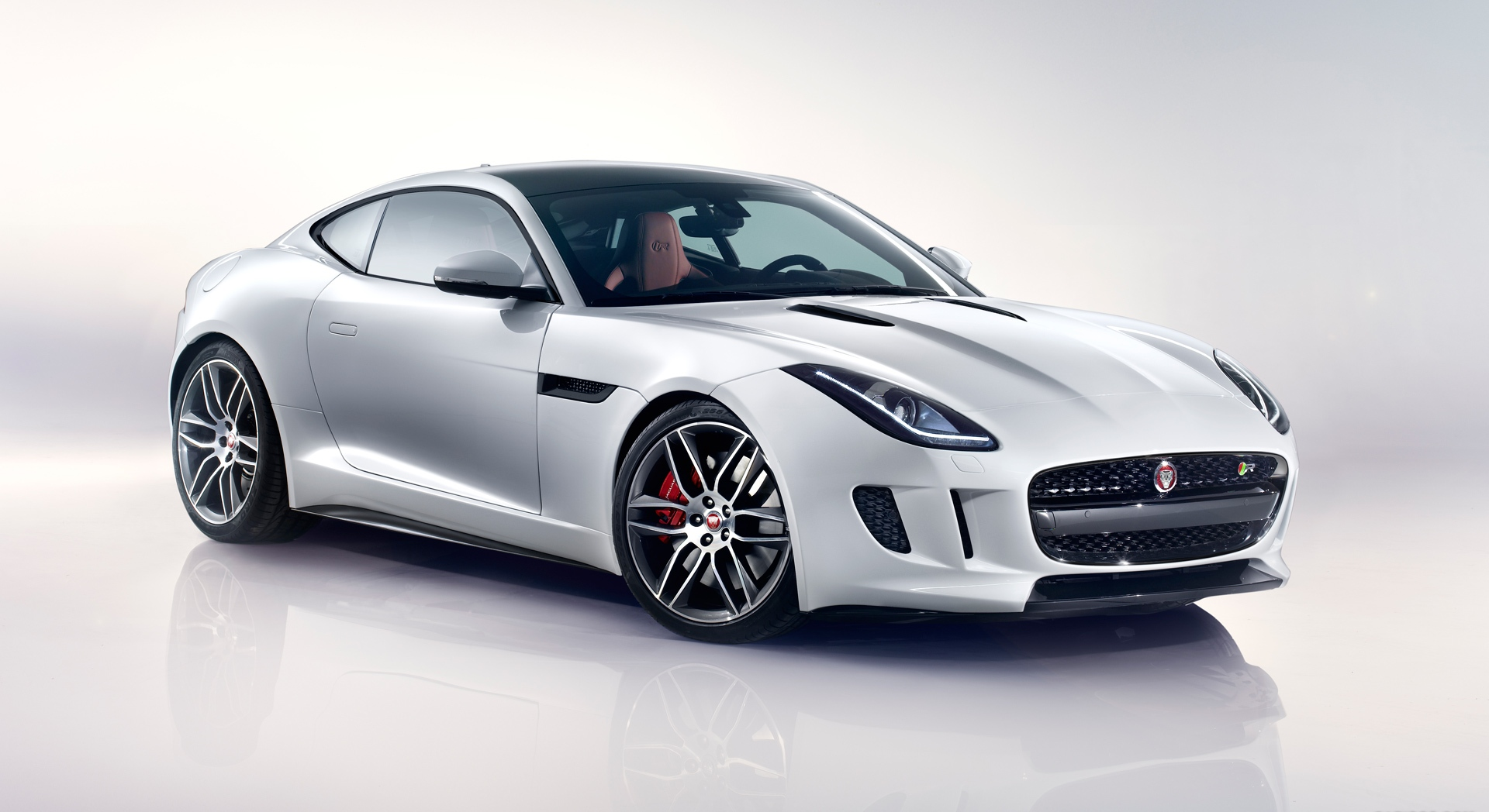 jaguar f type r coupe white sides