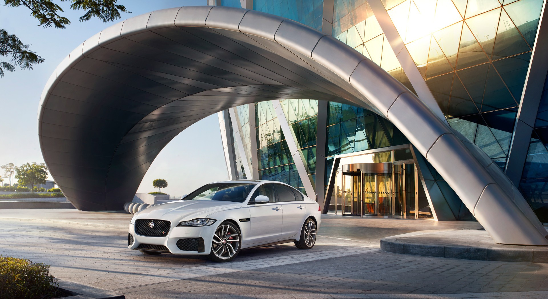 jaguar xf wallpaper white