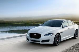 jaguar xj white front