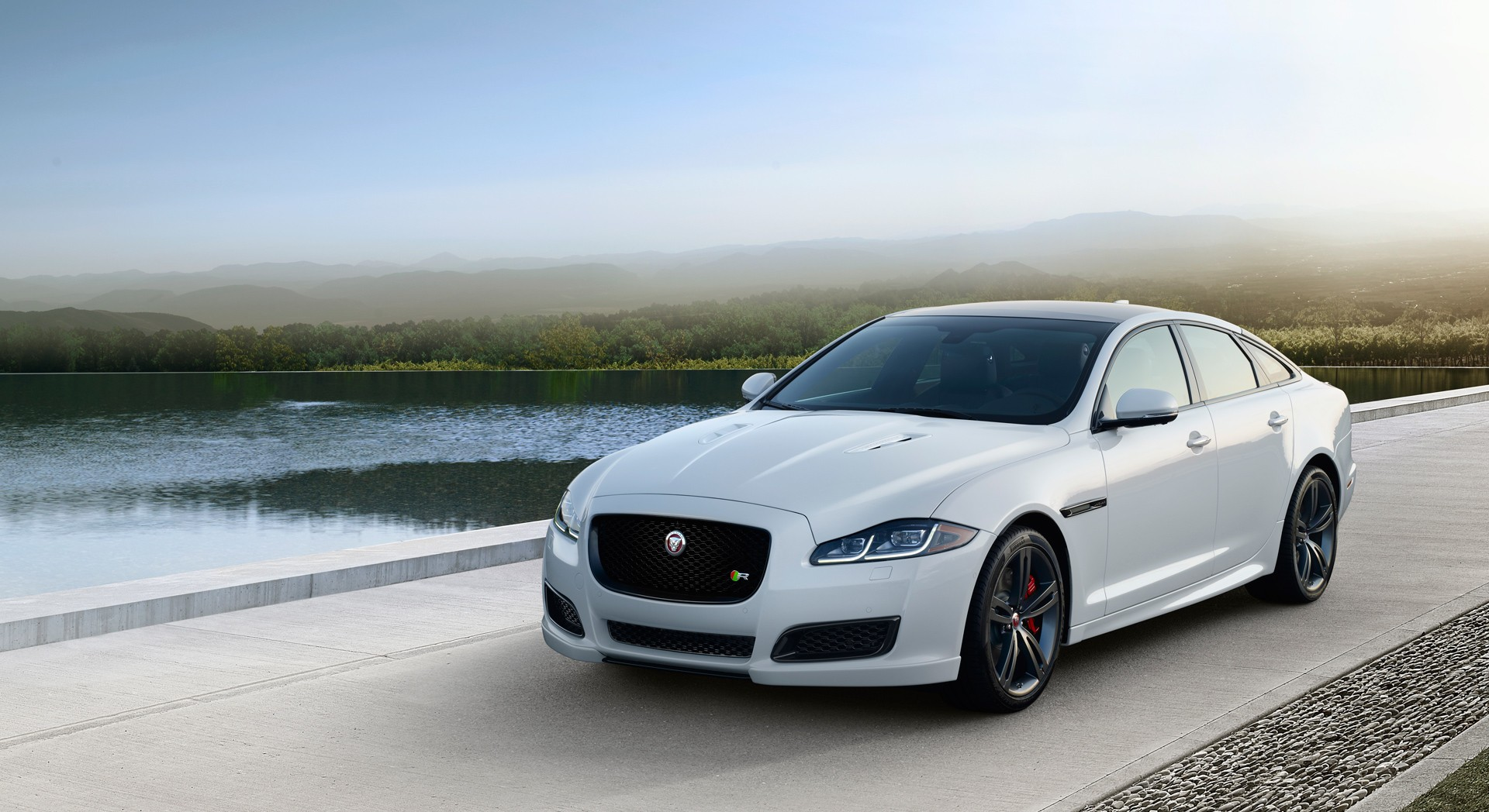 Jaguar xj white front hd desktop wallpapers 4k hd for Jaguar xj exterior