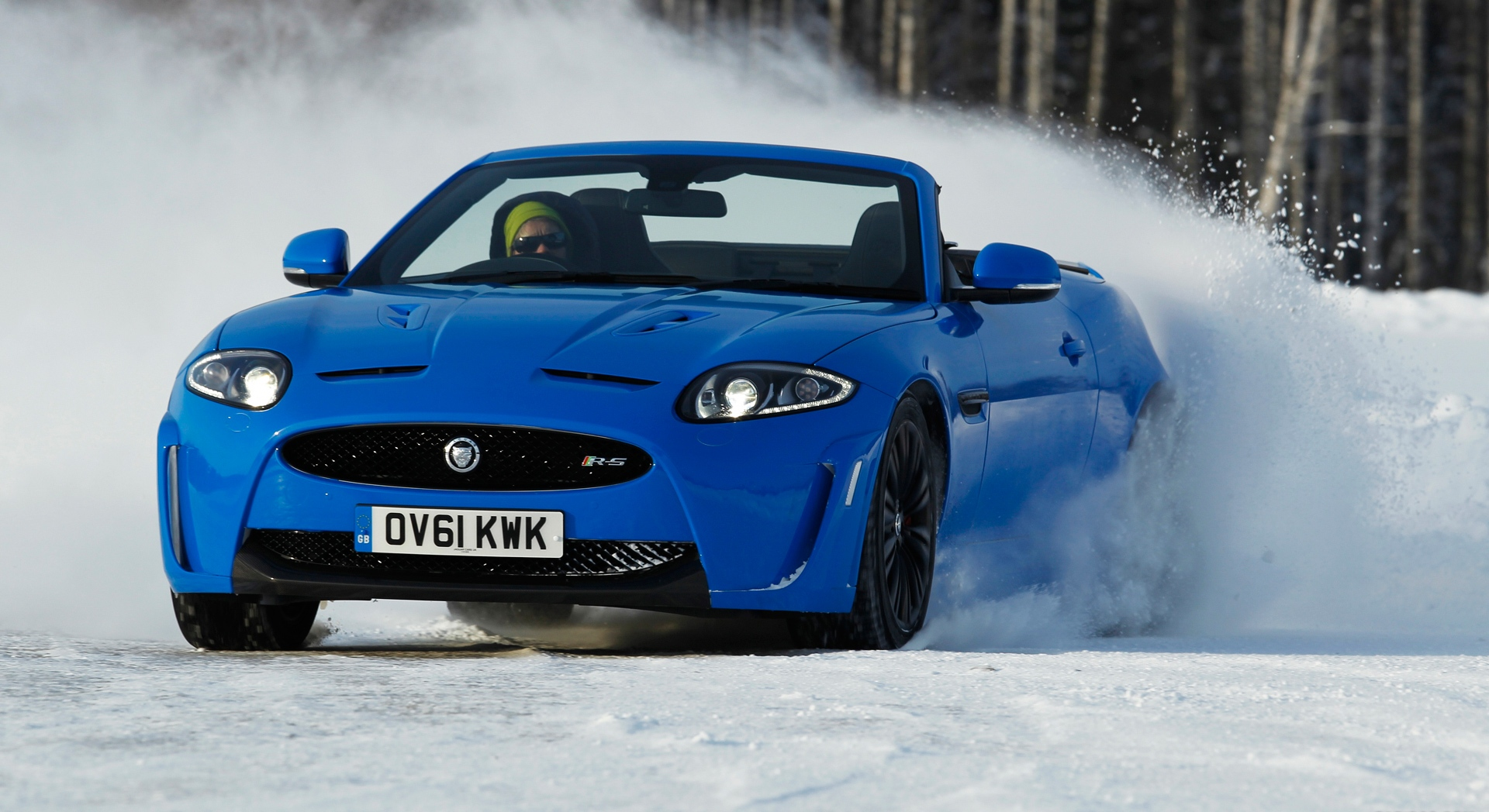 jaguar xkr blue picture