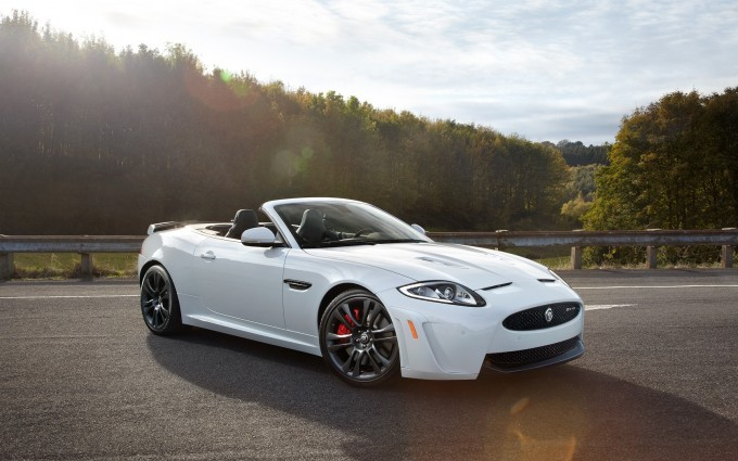 jaguar xkr white convertible