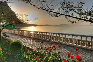 lake wallpaper garden
