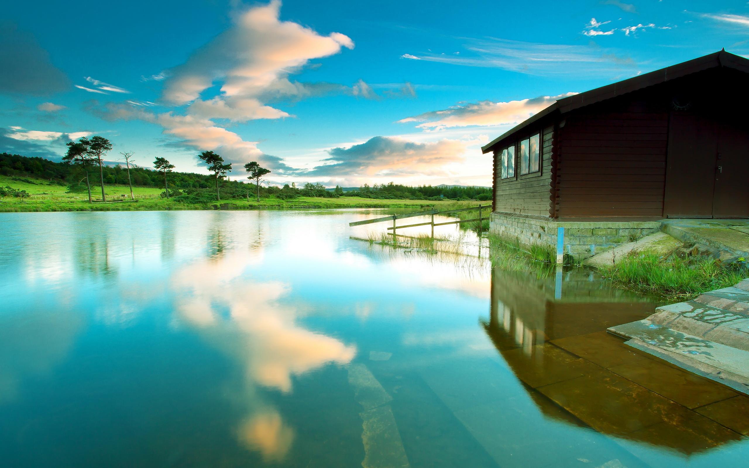 lake wallpaper house