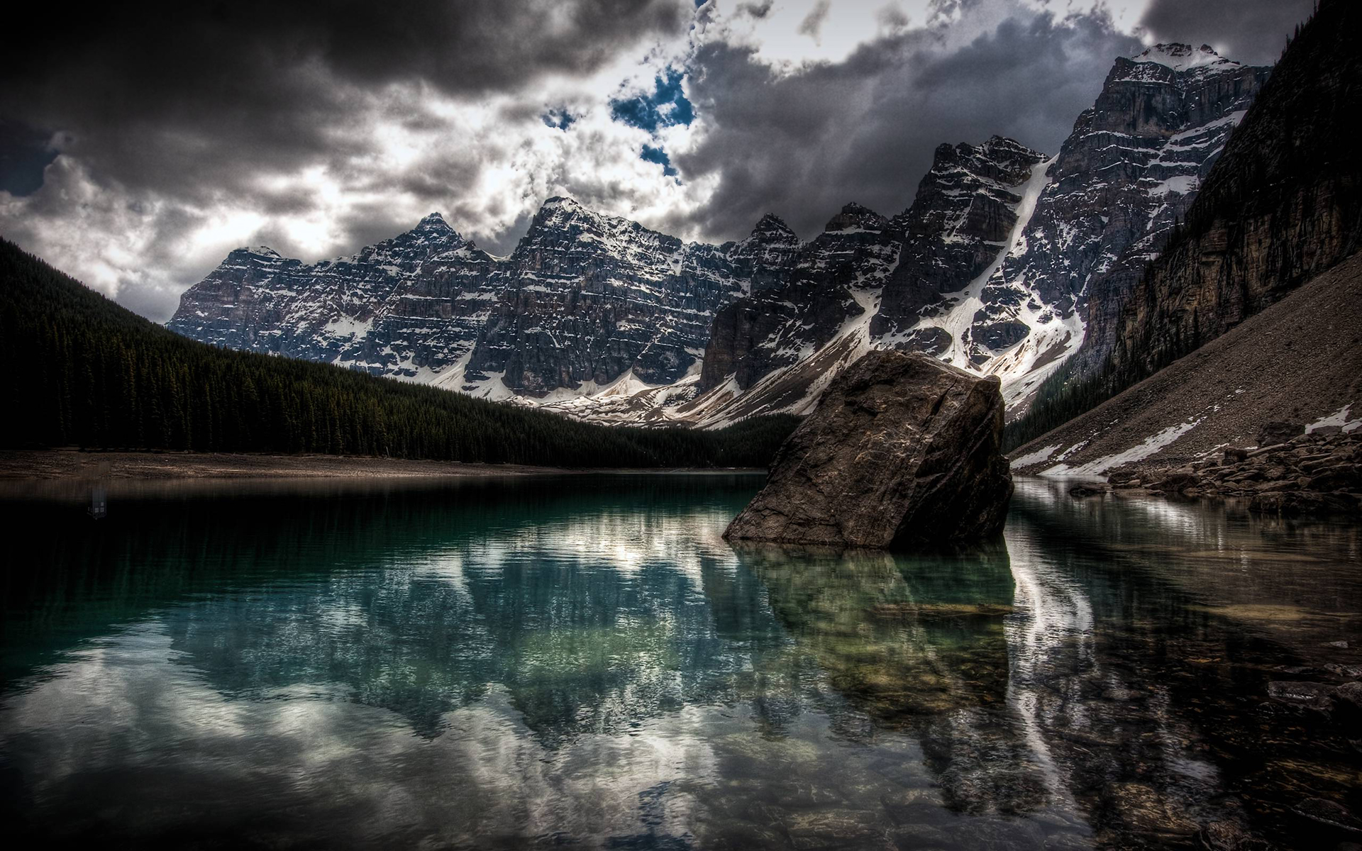 lake wallpaper moraine canada