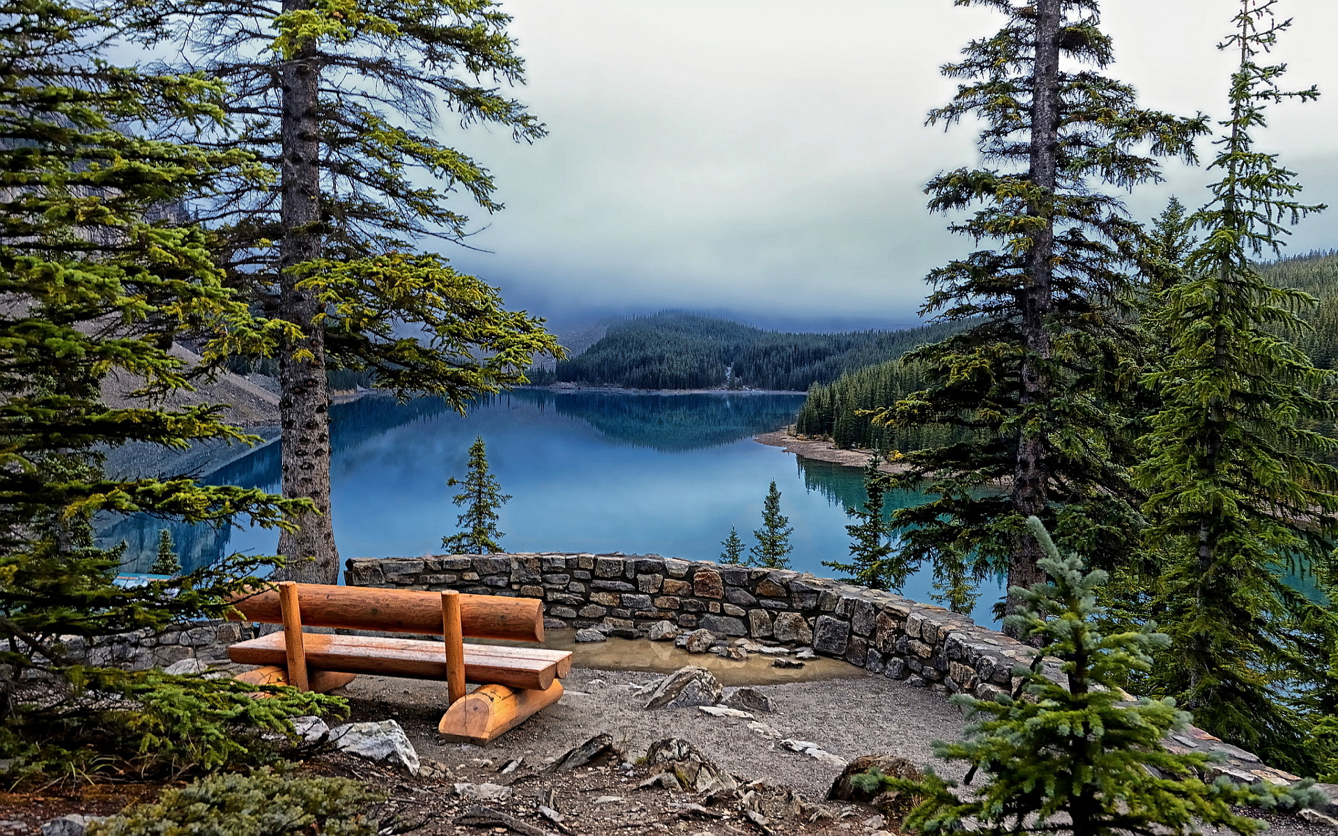 lake wallpaper moraine
