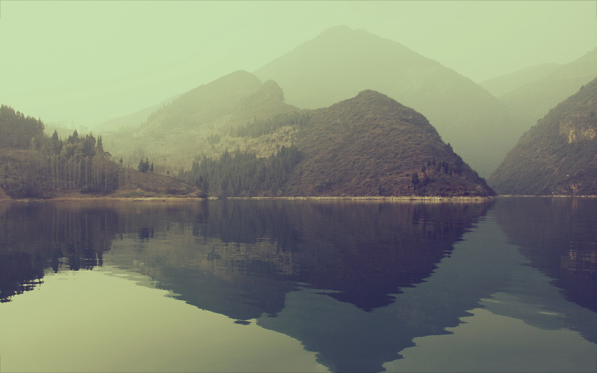 lake wallpaper silent morning