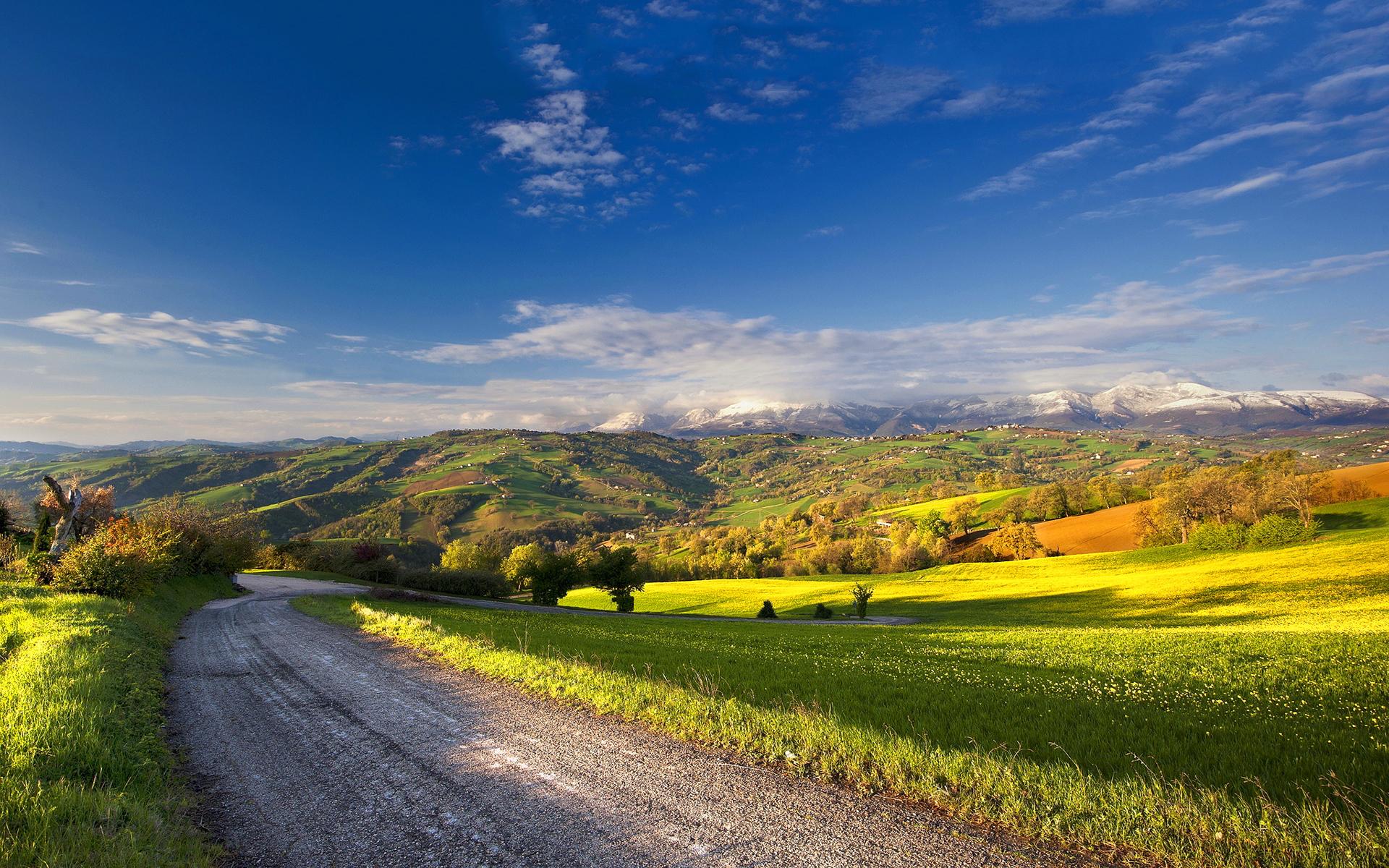 landscape beautiful road
