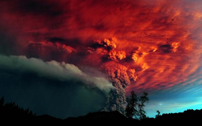 lava smoke volcano wallpaper