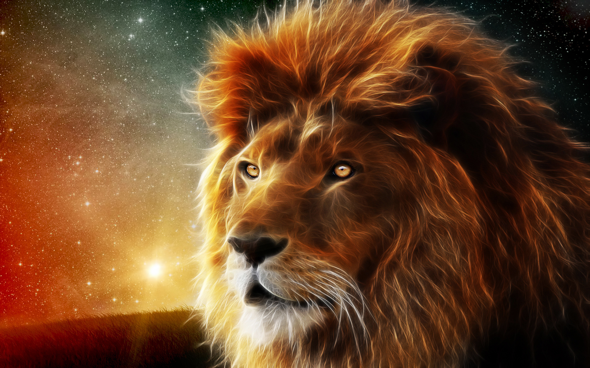 lion abstract