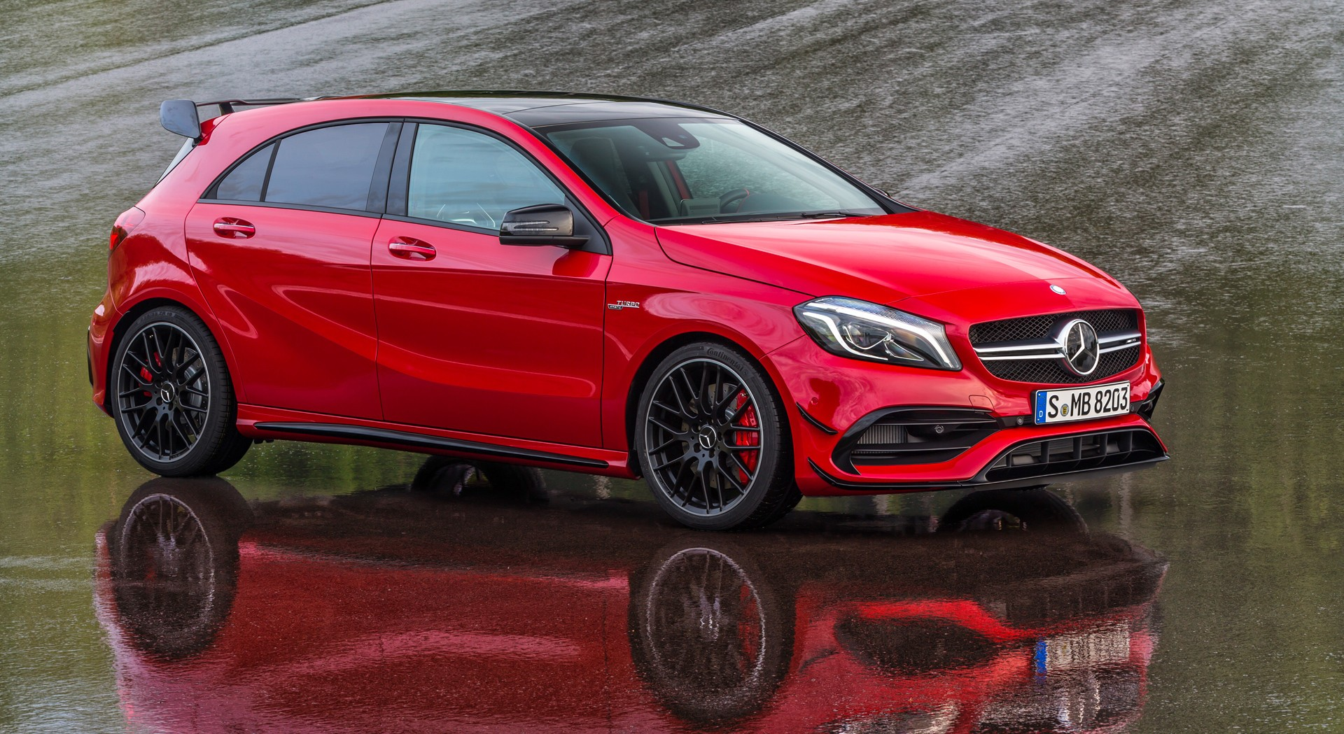 mercedes benz a45 amg red the image kid has it. Black Bedroom Furniture Sets. Home Design Ideas