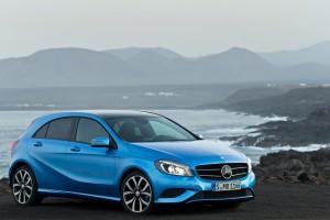 mercedes a class blue front