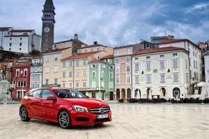 mercedes a class red wallpaper