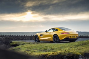 mercedes benz amg gt yellow background