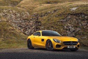 mercedes benz amg gt yellow free