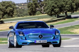 mercedes benz sls amg blue 2