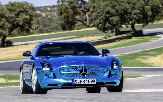 mercedes benz sls amg blue 2