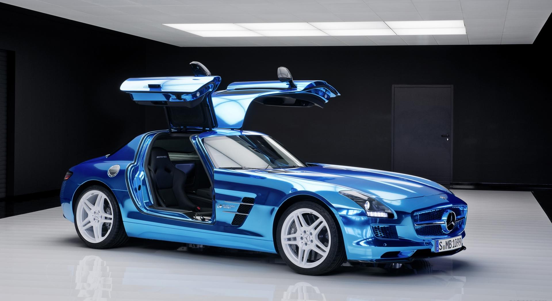 mercedes benz sls amg blue interior