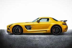 mercedes benz sls amg yellow
