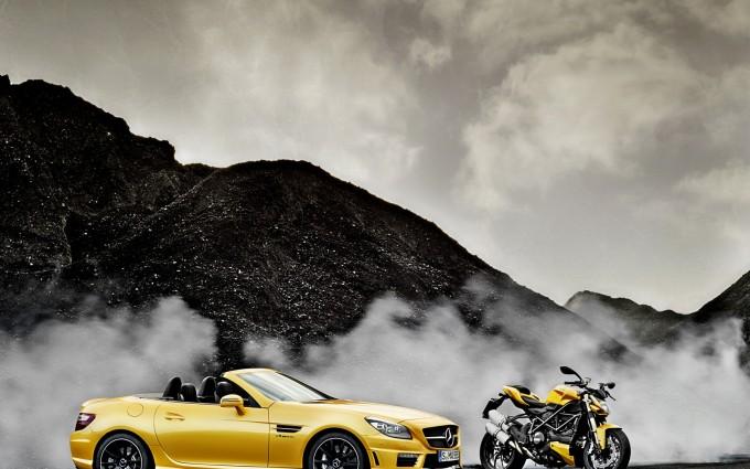mercedes slk yellow image