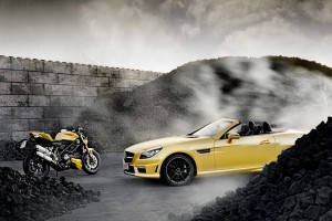 mercedes slk yellow pic