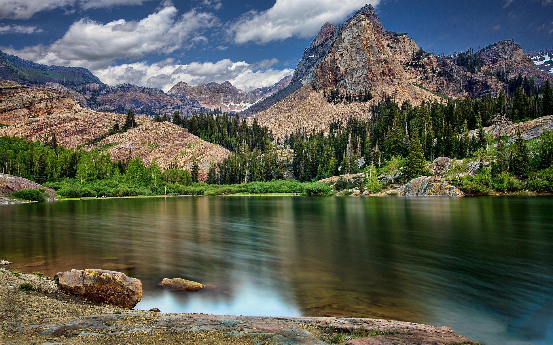 mountain wallpaper lake beautiful