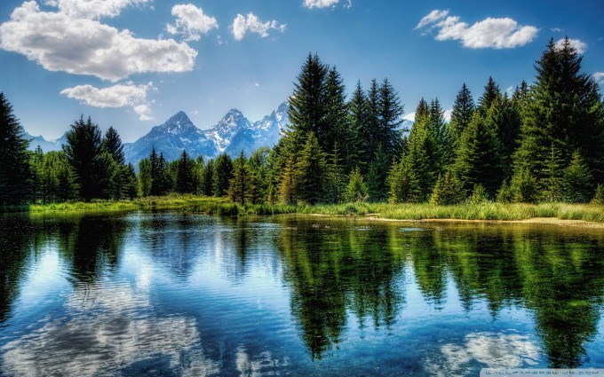 mountain wallpaper lake forest