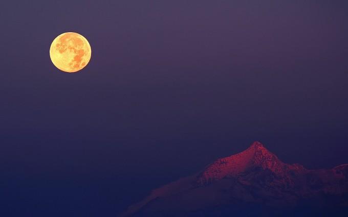 mountain wallpaper moon