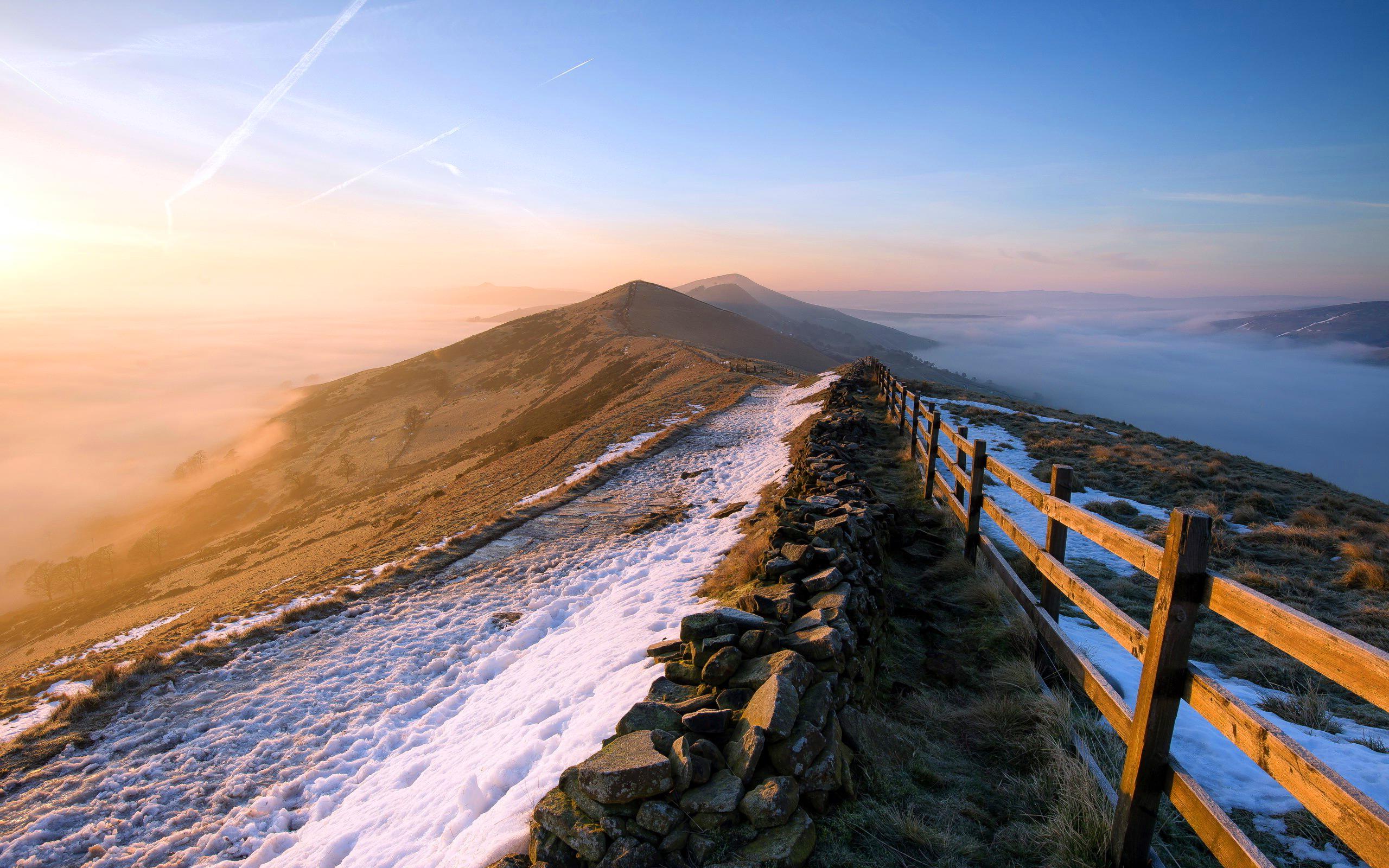 mountain wallpaper sunrise