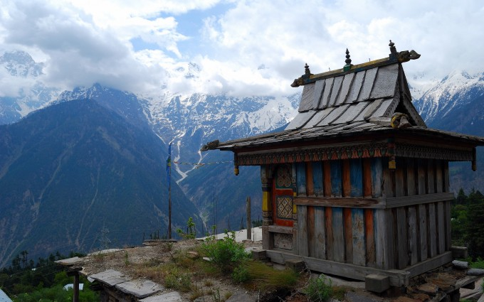mountain wallpaper temple