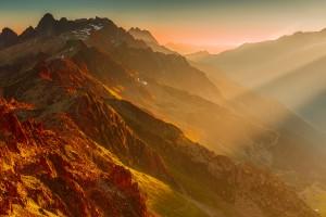 mountains sunset wallpaper hd