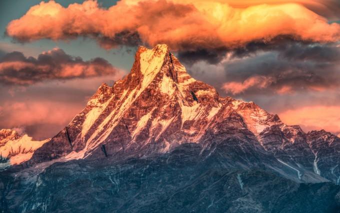 mountains sunset wallpaper himalaya