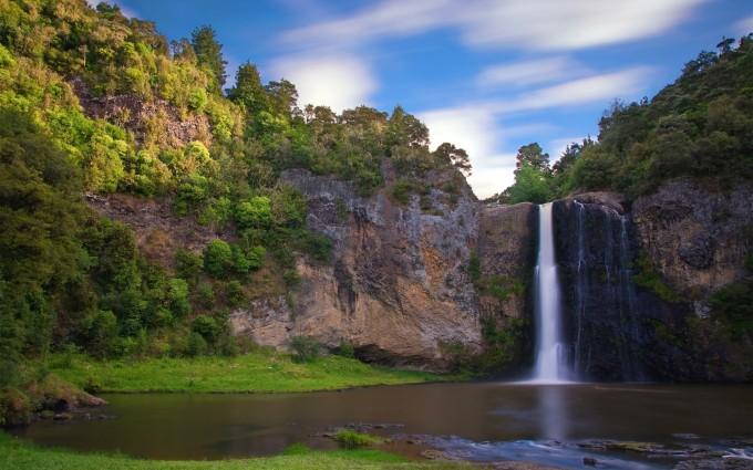 natural waterfall wallpaper hd