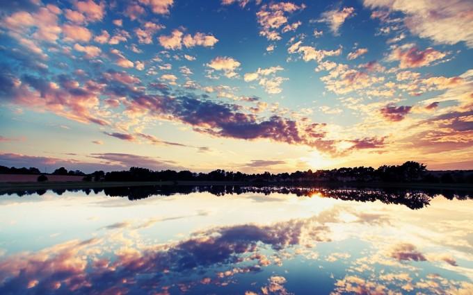 Nice Sunset Wallpapers Lake Hd Desktop Wallpapers 4k Hd