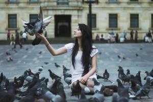 pigeons girl