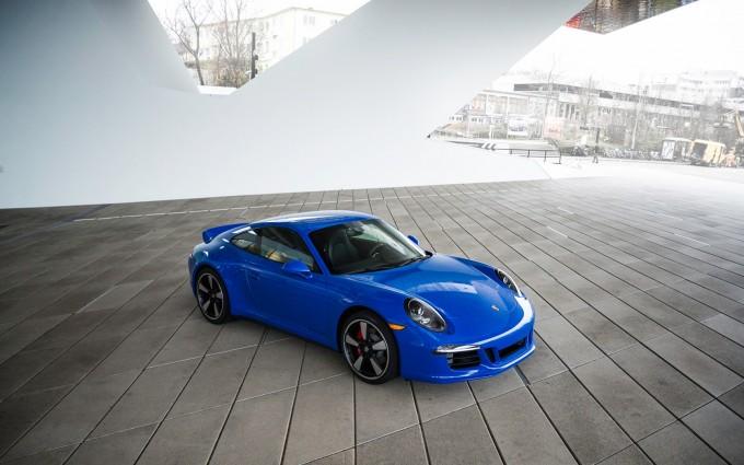 porsche 911 gts blue wallpaper