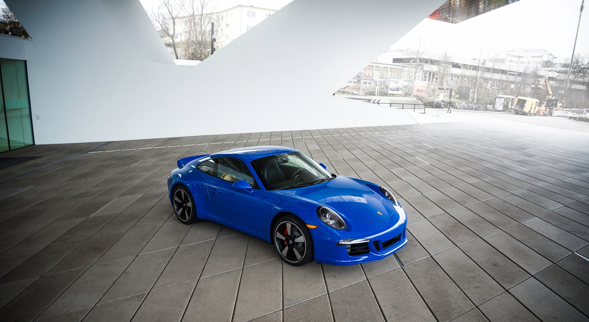 porsche 911 gts blue wallpaper