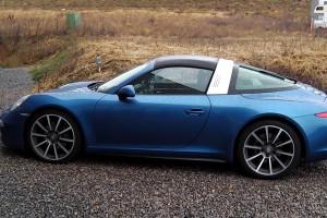 porsche 911 targa blue cool