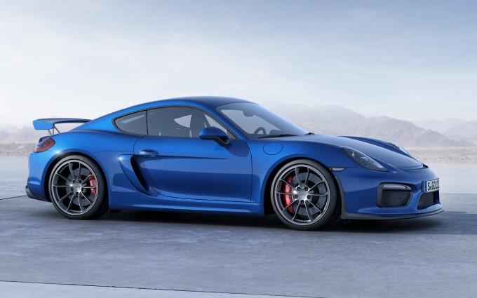 porsche cayman blue car
