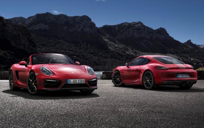 porsche cayman gts red cars