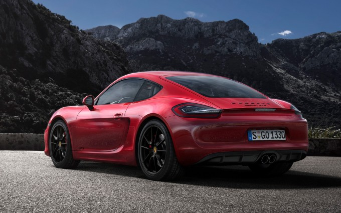 porsche cayman gts red picture